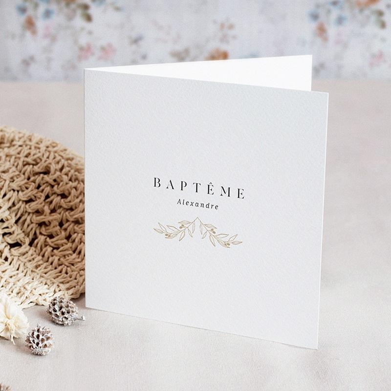 Faire-part baptême mixte Rameaux Sacrés