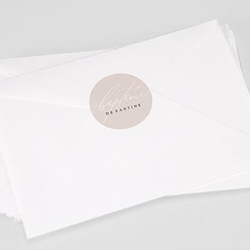Étiquette autocollante baptême - Typo - 0