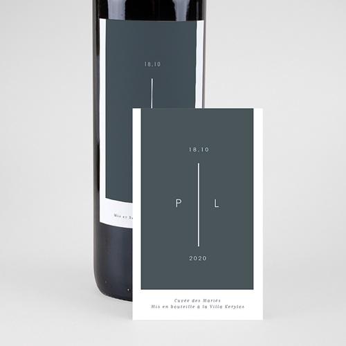 Étiquette bouteille mariage vin Bleu Minéral pas cher
