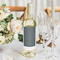 Étiquette bouteille mariage vin Bleu Minéral