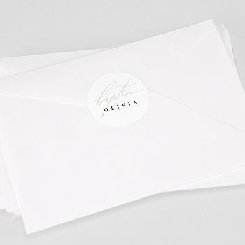 Étiquette autocollante baptême - Lumière - 0