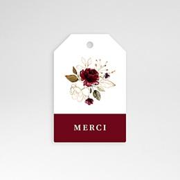 Etiquette Mariage Fleurs Marsala