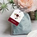 Etiquette mariage Fleurs Marsala gratuit