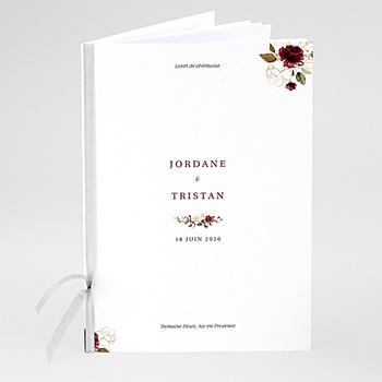 Livret messe mariage fleurs marsala