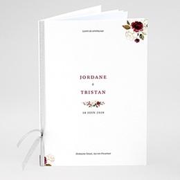 Livret de Messe Mariage Fleurs Marsala