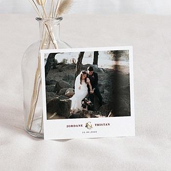 Carte remerciement mariage Fleurs Marsala