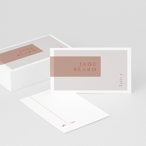 Marque place mariage Terracotta