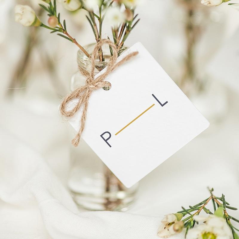 Etiquette Cadeau Mariage Bleu Minéral