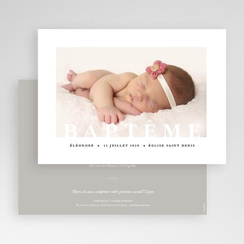 Faire-Part Baptême Fille Graphique gratuit