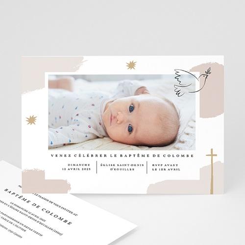 Faire-Part Baptême Fille Artsy