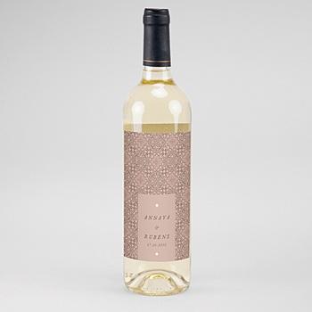 Étiquette bouteille mariage vin - Style Mauresque - 0