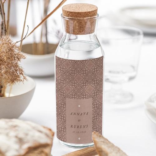 Étiquette bouteille mariage vin Style Mauresque gratuit