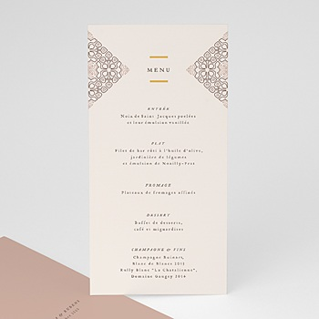 Menu de Mariage - Style Mauresque - 0