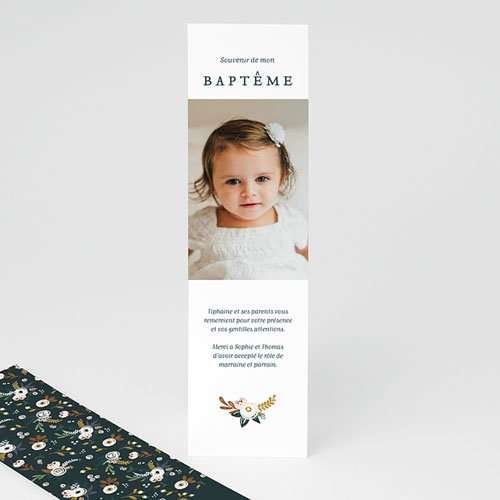 Carte Remerciement Baptême Fille Liberty Folk