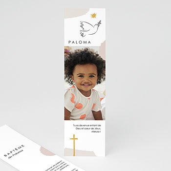 Remerciements Baptême Fille - Façon Picasso - 0