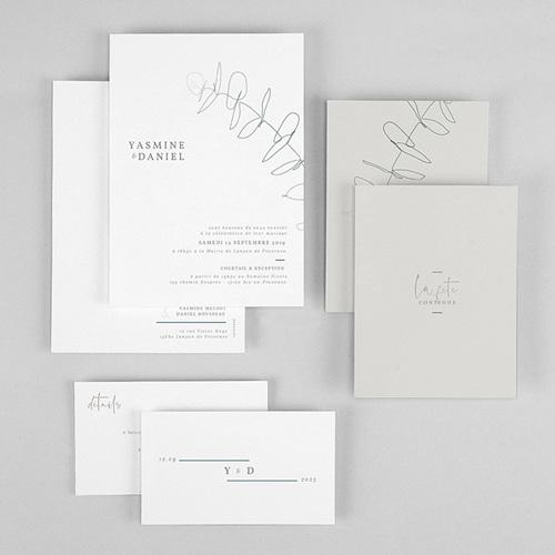 Faire-part mariage Eucalyptus gratuit