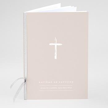 Livret de messe baptême - Bicolore Brush - 0