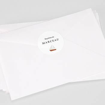 Étiquette autocollante baptême - Moussaillon - 0