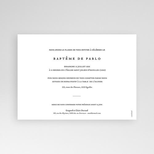 Faire-part baptême garçon Artsy-Craftsy pas cher