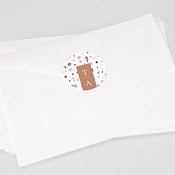 Étiquette autocollante mariage - Terrazzo Or - 0