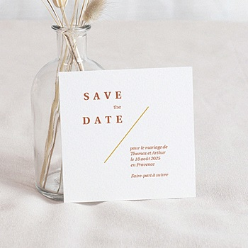 Save-The-Date - Terrazzo Or - 0