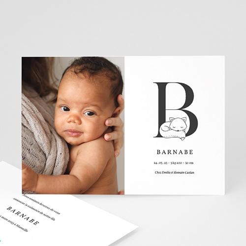 Faire-Part Naissance Renard Avec initiale du prénom de bébé