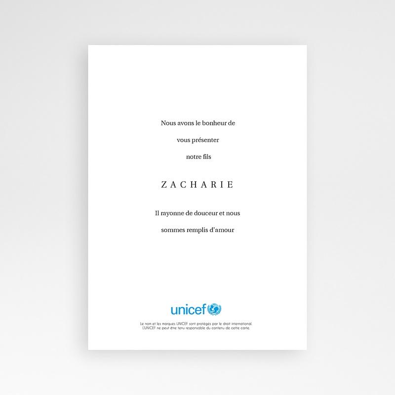 Faire-Part Naissance Garçon UNICEF Triple Bonheur pas cher
