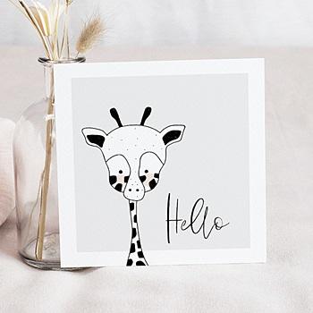 Faire-Part Naissance Fille UNICEF - Petite Girafe - 0