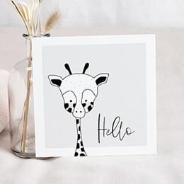 Faire-Part Naissance Fille UNICEF Petite Girafe