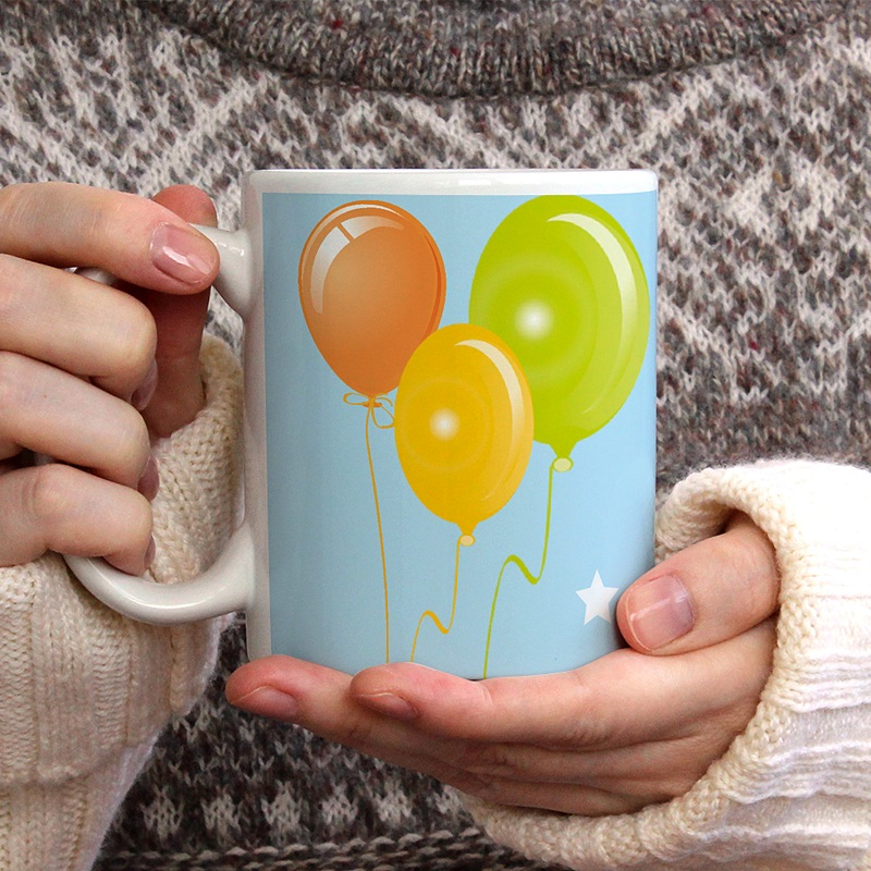 Mug Personnalisé Photo Anniversaire en ballons gratuit