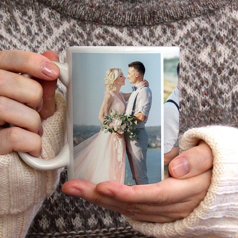 Mug Personnalisé Photo Cheers, 3 photos Mariage gratuit