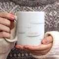 Mug Personnalisé Photo Dragées - Bandeau Rose gratuit