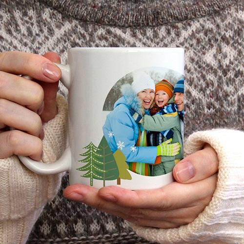 Mug Personnalisé Photo  Noel en couleurs gratuit