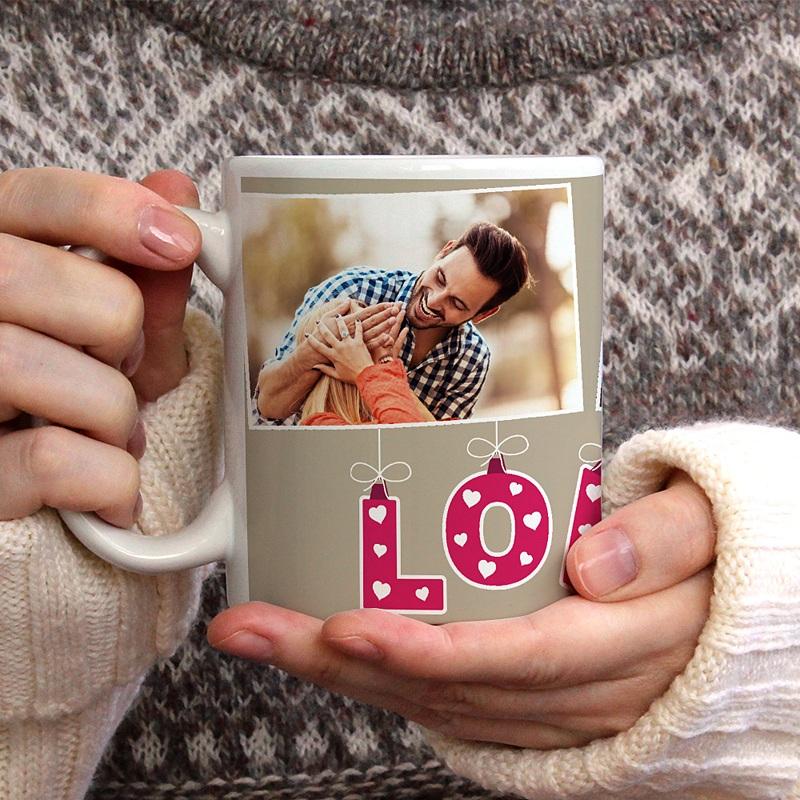 Mug Personnalisé Photo Coeur d'Amour gratuit