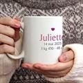 Mug Multi-photos Coeur Fushia gratuit