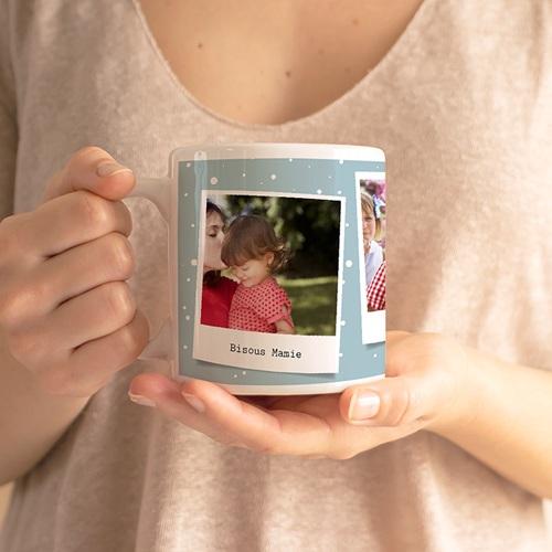 Mug Personnalisé Photo Tasse POLA, 3 instantanés gratuit