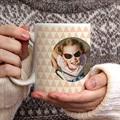 Mug Personnalisé Photo Chevrons Roses gratuit