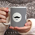 Mug Personnalisé Photo Chevrons Blancs gratuit