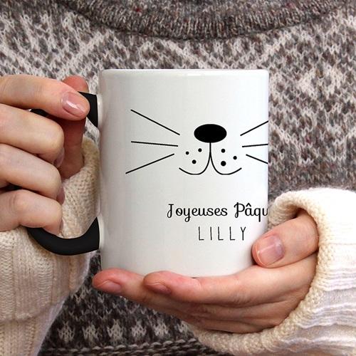 Mug Personnalisé de Couleur Moustache de lapin gratuit