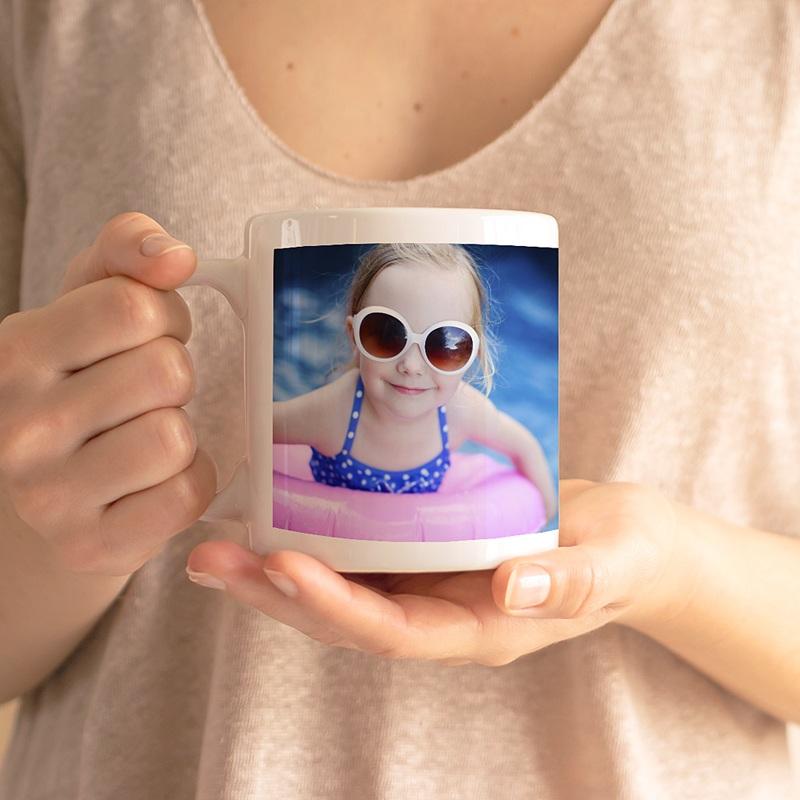 Mug Personnalisé Photo Initiale + prénom, blanc gratuit
