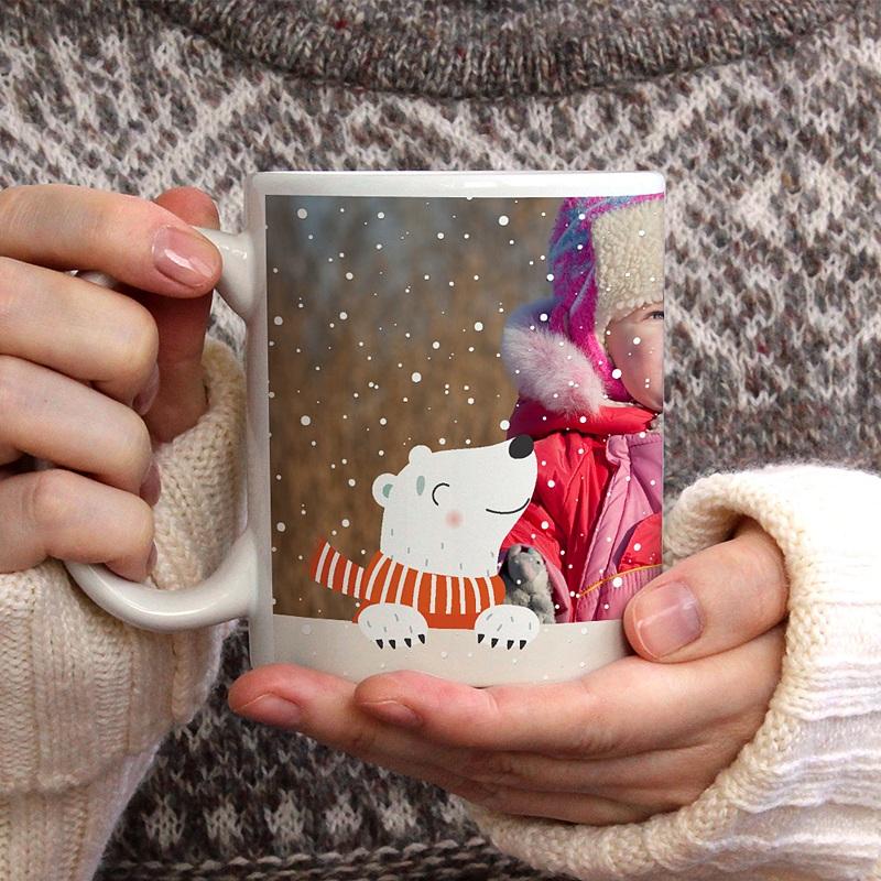 Mug Personnalisé Photo Ours de Noel gratuit