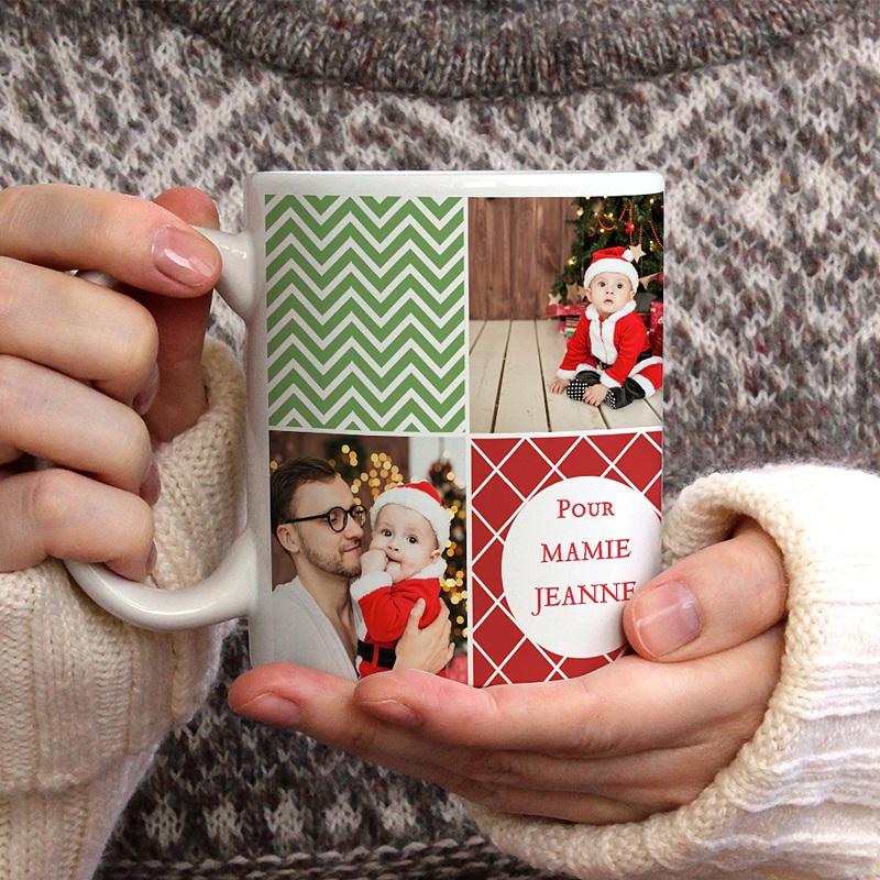 Mug Damier de Noel gratuit