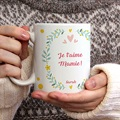 Mug Personnalisé Photo Couronne fleurie gratuit