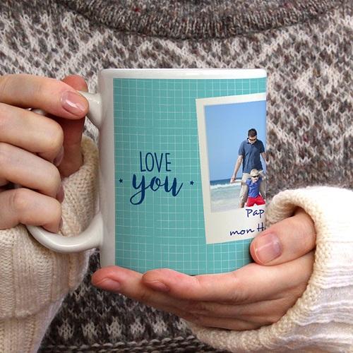 Mug Personnalisé Photo Coolest Dad gratuit
