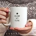 Mug Personnalisé Photo Boules Noël & Etoiles gratuit