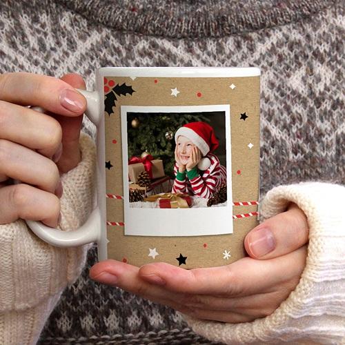Mug Personnalisé Photo Christmas Tea, 3 photos gratuit