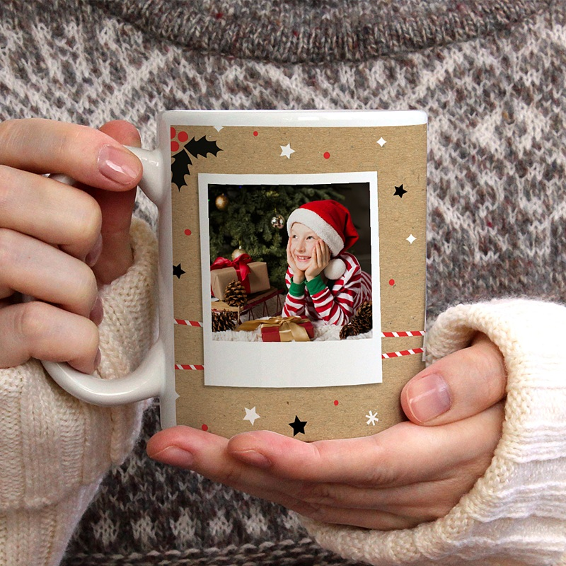 Mug Personnalisé Photo Christmas Tea, 3 photos gratuit