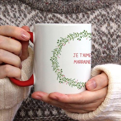 Mug Personnalisé de Couleur Noel en fête gratuit