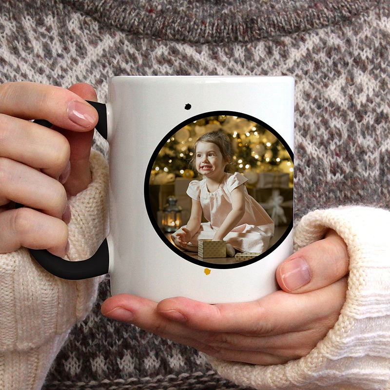 Mug Personnalisé de Couleur Christmas Doré gratuit