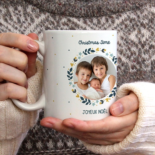 Mug Personnalisé Photo Christmas coffee gratuit